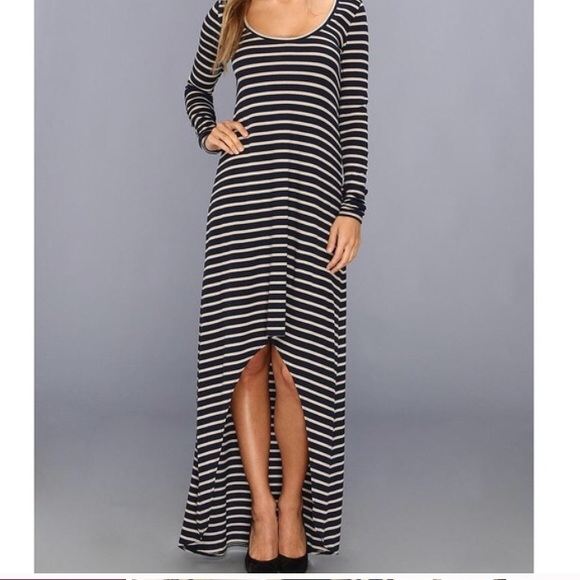 7fd1b19cd6ad BCBGMaxAzria Dresses | Bcbg Ariana High Low Long Sleeve Striped ...